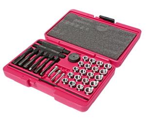 Набор инструментов для восстановления резьбы под свечи накаливания 33 предмета в кейсе JTC-4053