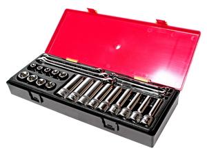 Набор инструментов 24 предмета TORX (ключи E6-E24, головки E10-E24) в кейсе JTC-K4241