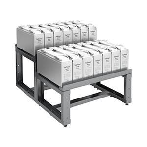 Двухрядный двухуровневый аккумуляторный стеллаж КРОН-АКС-12.800
